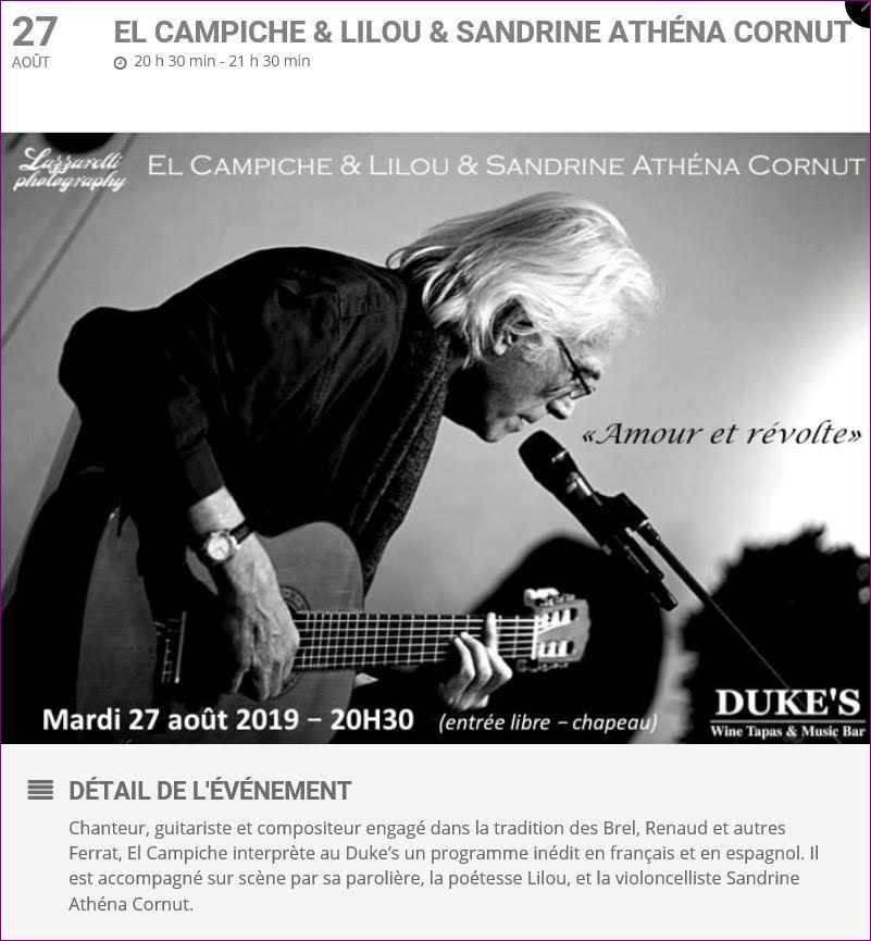 affiche concert el campiche