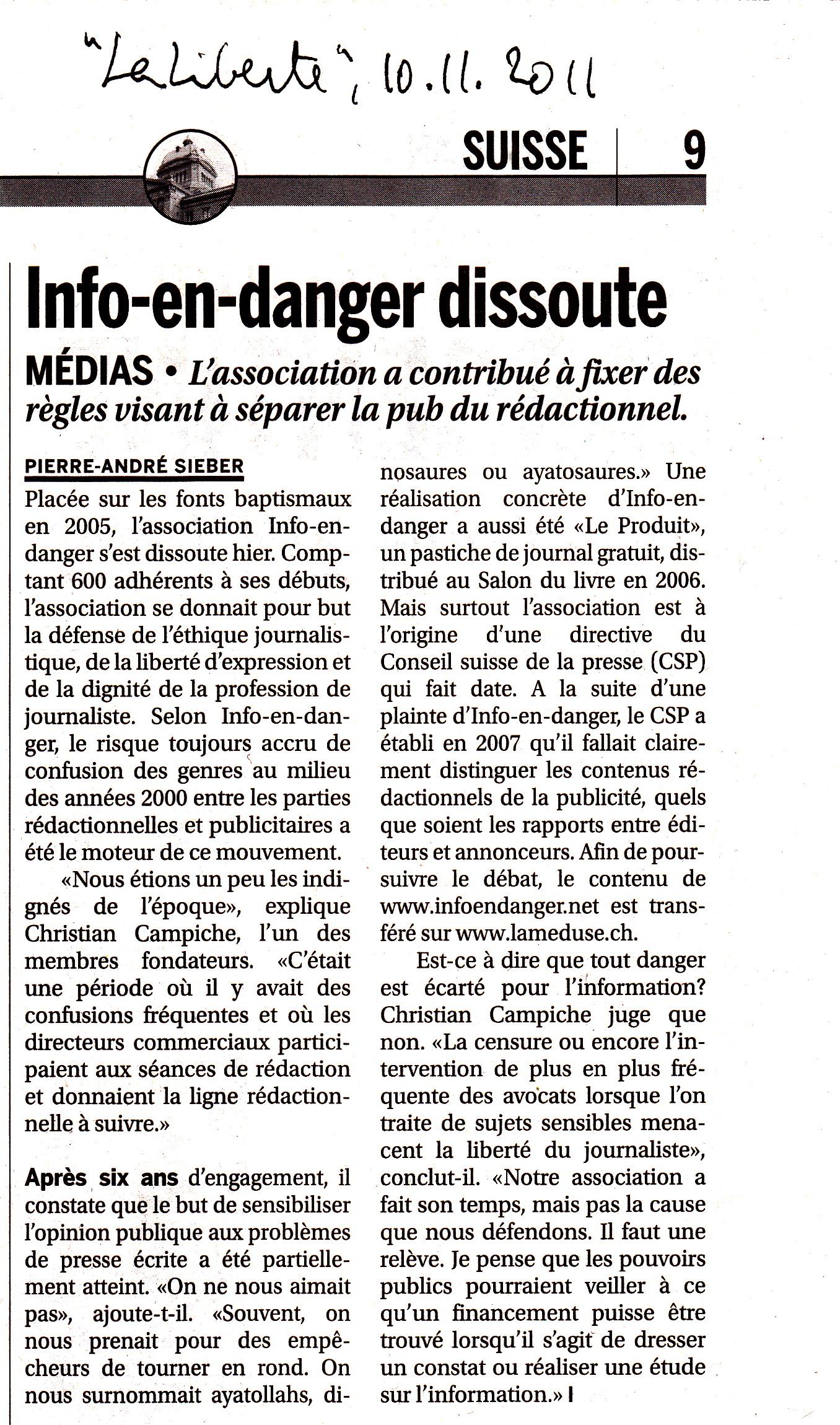 Info En Danger Les Raisons D Une Dissolution La Meduse