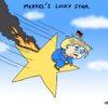 Merkel's lucky star