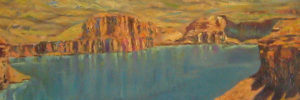 "Abdul Ghafer Brechna, Bamyan, 1949, oil on canvas, about 24"" x 36"""